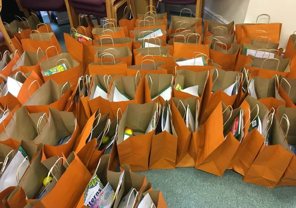 100 Wellbeing Bags for young people